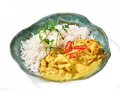 Curry de pui thailandez cu orez basmati