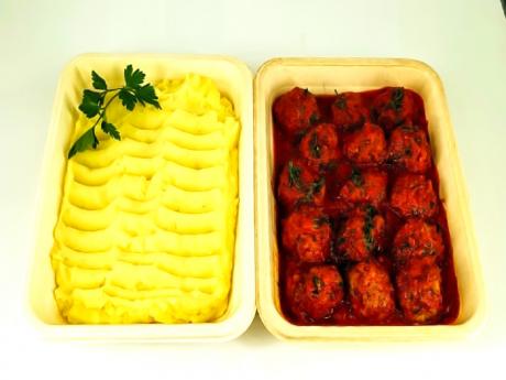 Family Pack: Chifteluțe marinate + Piure cartofi